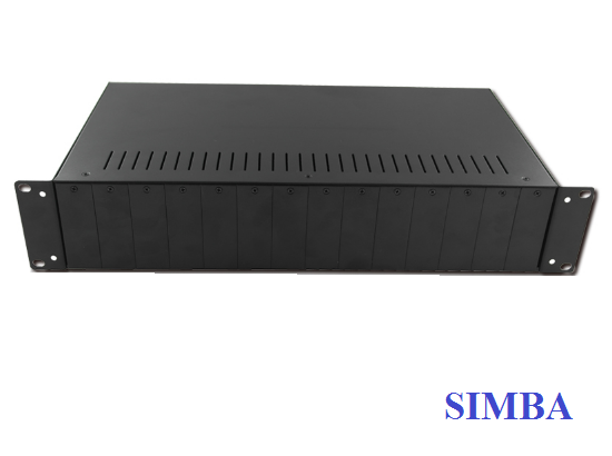 2U 14 Slots Optical Video Converter Rack BT-2U14