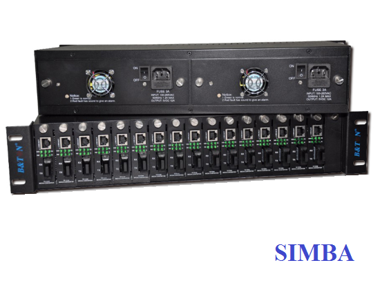 2U 16 Slots Optical Media Converter Rack BT-EF16